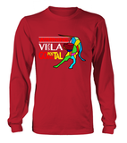 Red Long Sleeved T-Shirt Warning - Vizsla Going Postal