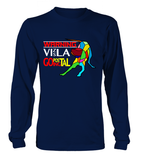Navy Blue Long Sleeved T-Shirt Warning - Vizsla Going Postal