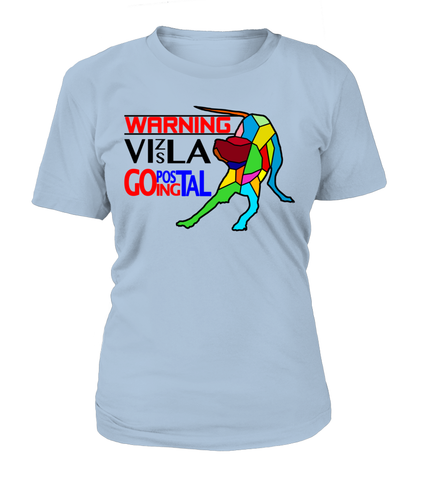 "T-Shirt ""Warning - Vizsla Going Postal"" Woman's Premium"