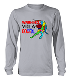 Sport Grey Long Sleeved T-Shirt Warning - Vizsla Going Postal