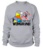"Sweatshirt ""Love is a Sugar Faced Weimaraner"" Premium"