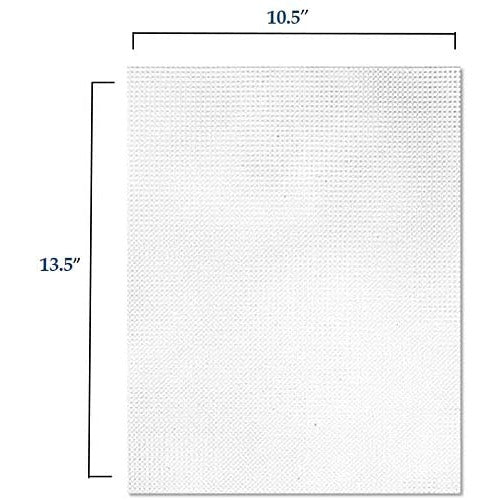 Clear Plastic Mesh Canvas Kit - 6 Canvas Sheets Size #7, with 6 Large Eye Blunt Needles, Sizes 13, 14 and 16, 2 of Each Size. (Plastic Canvas & Needles)