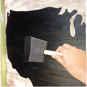 chalkboard Paint kit - Quality Chalkboard Black Paint , with Three, different size, Wood Handle Foam Brushes  - Create usable Chalkboard Surfaces on Furniture, Doors, Drawers and More!