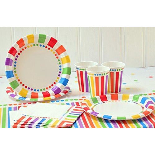 Rainbow Birthday Party set Supplies for 16 guests