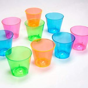 Bright Neon Party Supplies Set - Serves 32 Guest, for  glow In the Dark Party Blacklight UV Parties.