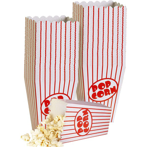 Movie Small Popcorn Boxes-Striped Red and White 40 pack
