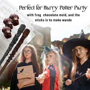 Candy chocolate Frog Mold And Magic Wizard Wand Making