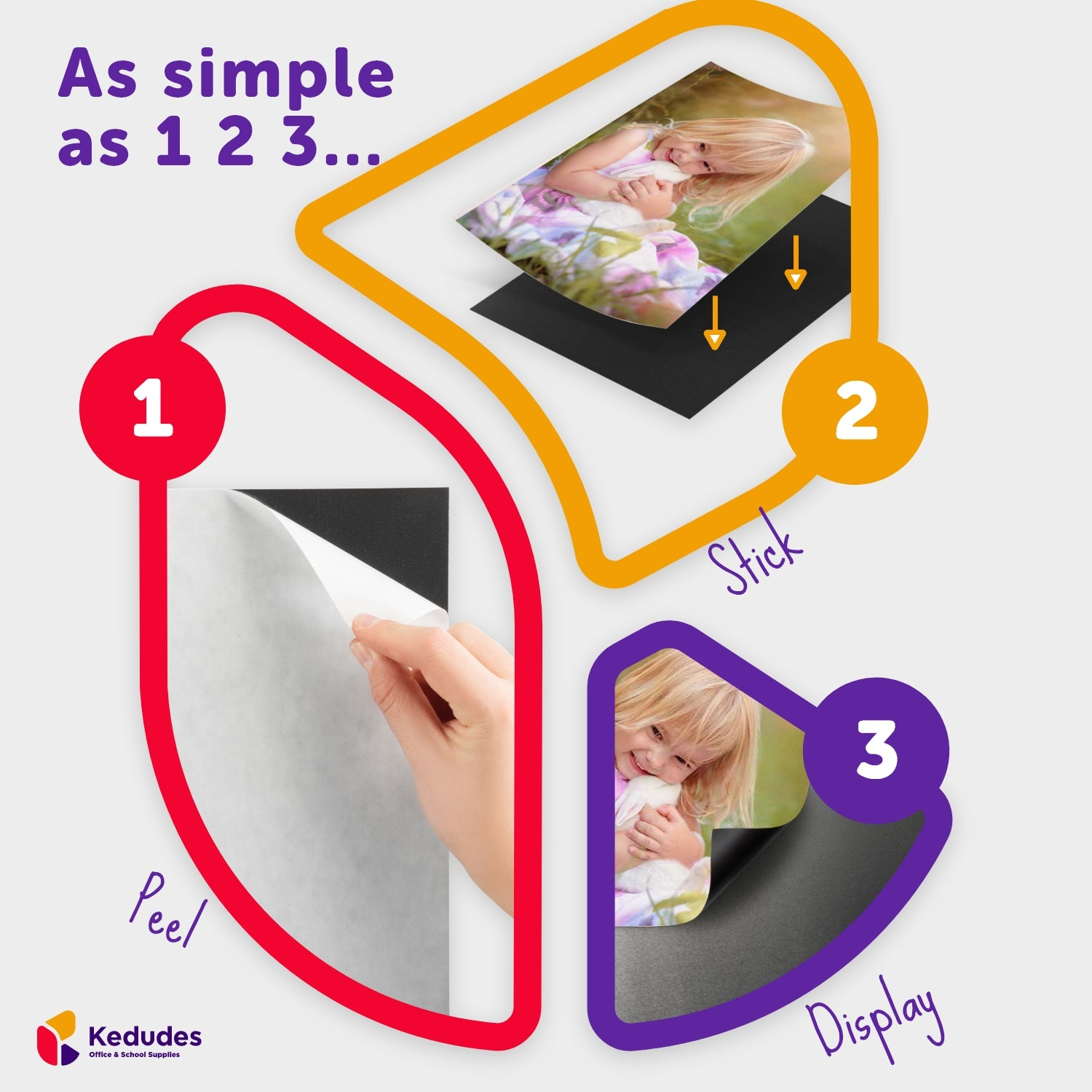 pack of 12 | 5x7 Flexible self Adhesive Magnetic Sheets - Peel and Stick, Cuts to Any Size. works Great for Pictures