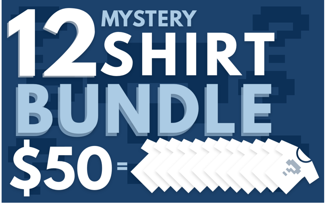 12 Mystery T-Shirt Bundle!