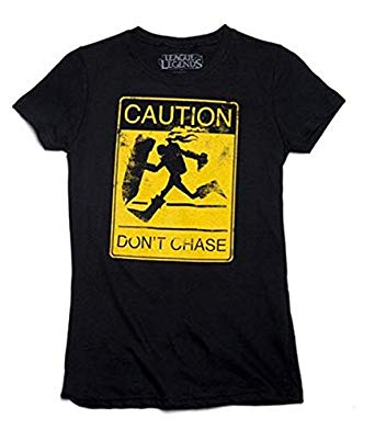 League of Legends Singed Don't Chase Me Women's Adult T-Shirt
