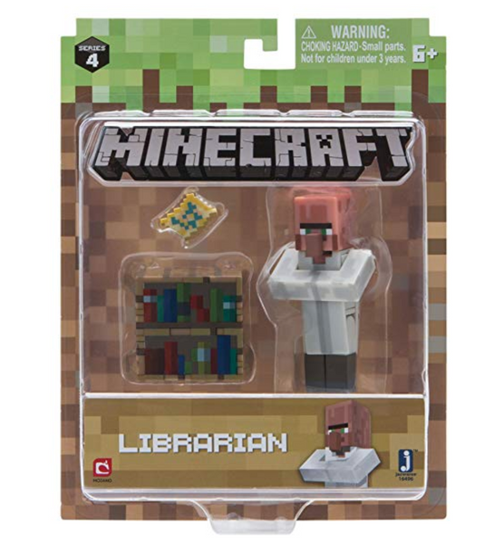 Minecraft Villager Librarian Figure Pack - Clearance Sale!!!