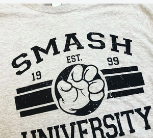 """Smash University"" T-Shirt - Grey"