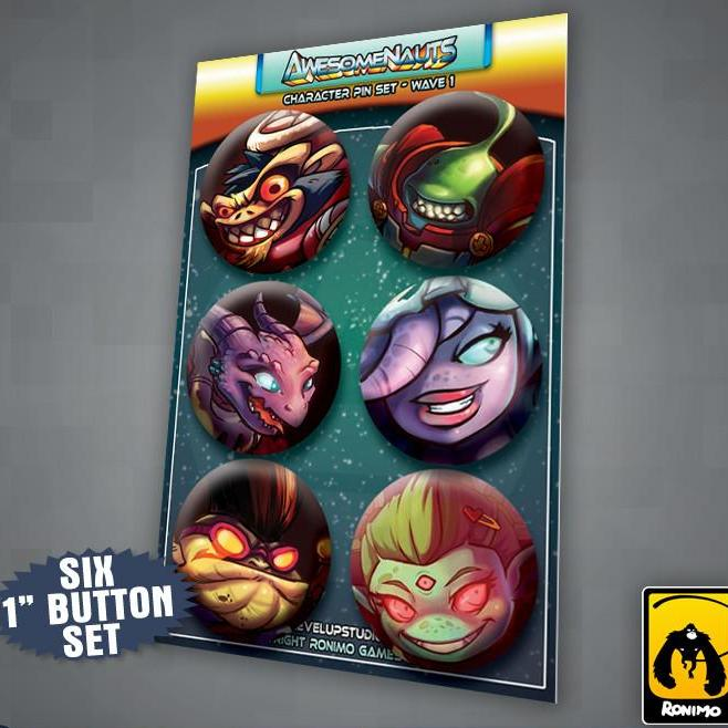 Awesomenauts Character Pin Set