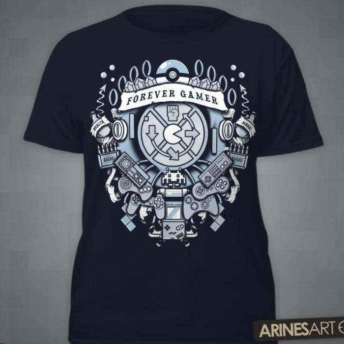 """a939a12ae Forever Gamer"""" T-Shirt – Level Up Outfitters"""