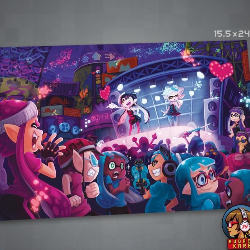 """See You At The Splatfest!"" Poster"