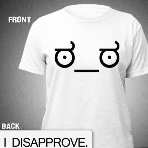 """Look of Disapproval"" T‑Shirt"