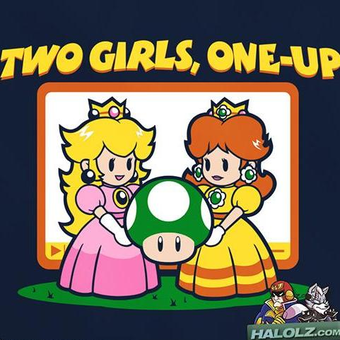 """Two Girls, One-Up"" T‑Shirt"