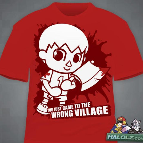 """Villager Comes To Town""  T-Shirt"