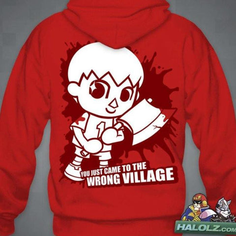 """Villager Comes To Town"" Zip-Up Hoodie"