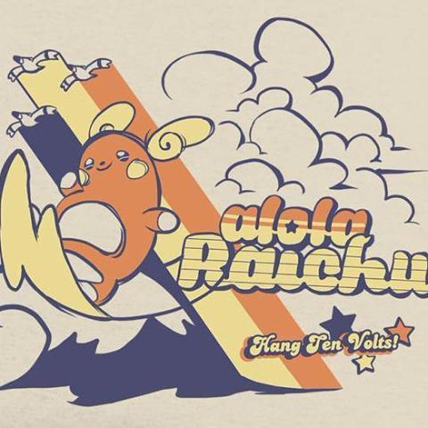"""Alola Raichu Surf Club"" T‑Shirt"
