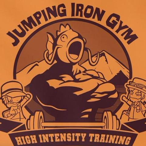 """Jumping Iron Gym"" T‑Shirt & Tank Top"