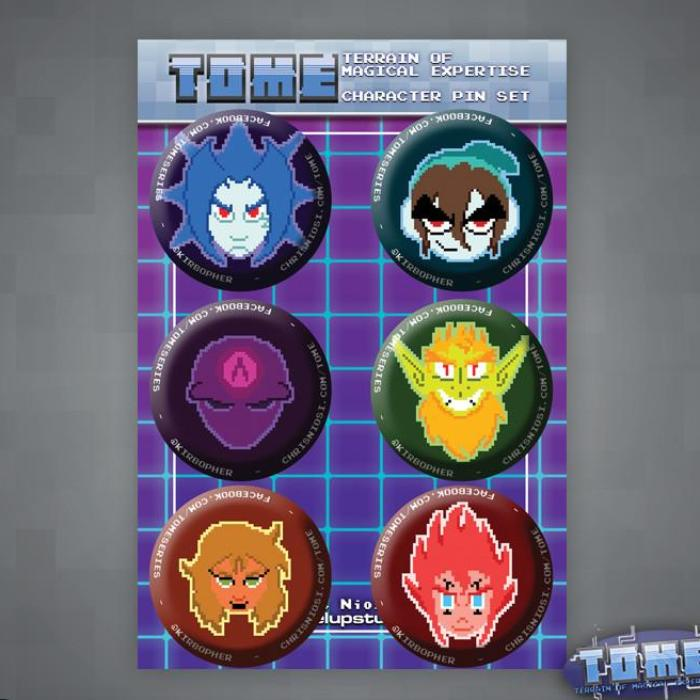 TOME Character Pin Set