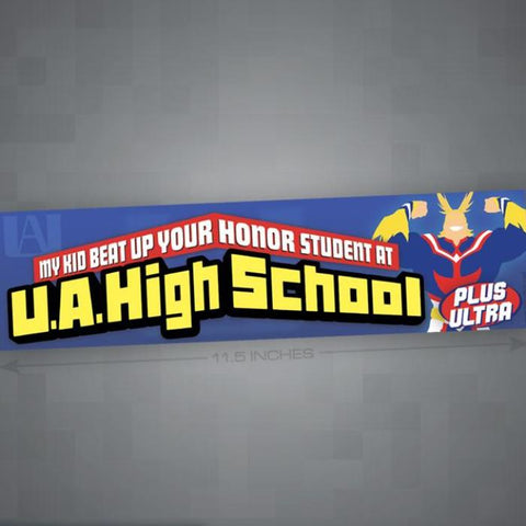U.A. High School Bumper Sticker