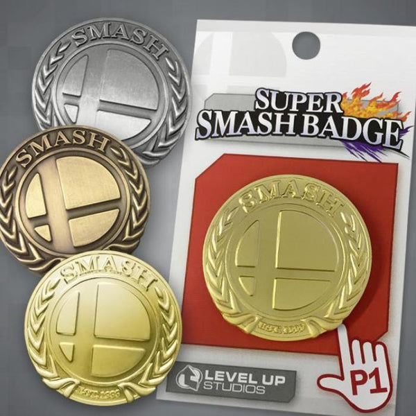 """Super Smash Badge"" Deluxe Metal Pin"