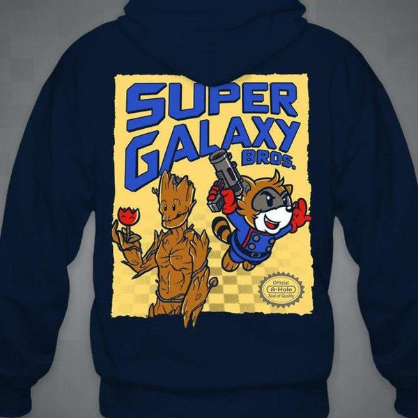 """Super Galaxy Bros."" Zip-Up Hoodie"