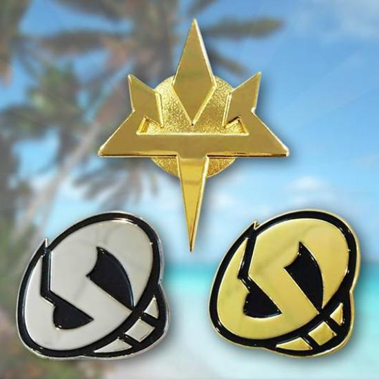 Team Skull & Aether Foundation Metal Badges