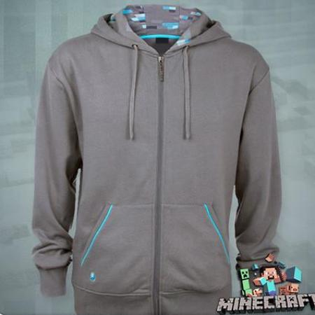 "Minecraft ""Diamond"" Deluxe Zip‑Up Hoodie"