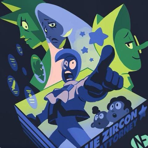 """Blue Zircon: Space Attorney"" T‑Shirt"