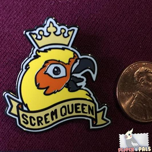 """Screm Queen"" Enamel Pin"