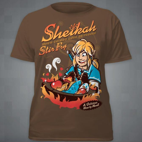 """Sheikah Stir Fry"" T-Shirt [Time Attack Sale!]"