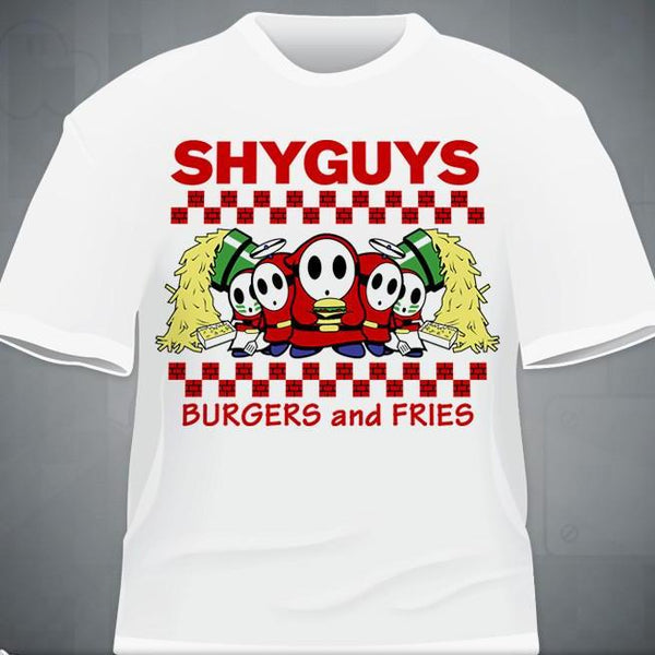 """Shyguys Burgers and Fries"" T-Shirt"