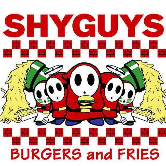 """Shyguys Burgers and Fries"" T‑Shirt"