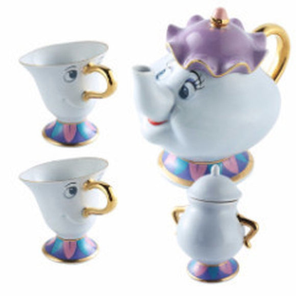 Beauty and the Beast Disney Mrs Potts Teapot Set-Kook Store-Kook Store