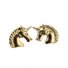 Gold/Silver Unicorn Earrings