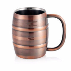 Copper Barrel Style Cup - 250ml