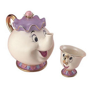 Mrs Potts Chip Beauty And The Beast Disney Teapot And Cup Set