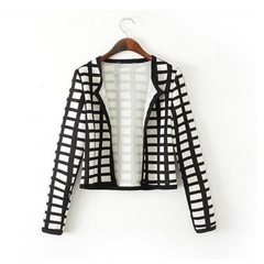 Slim Check Bomber Jacket