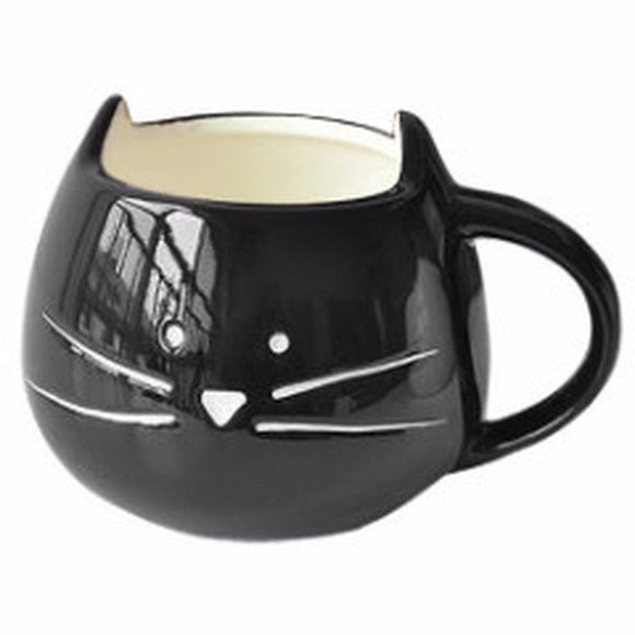 Cute Black Cat Coffee Cup Mug-Kook Store-Kook Store