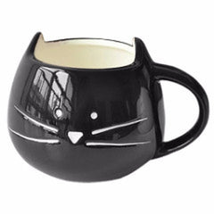 Cute Black Cat Coffee Cup Mug