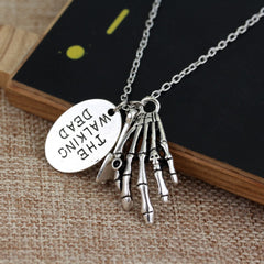 The Walking Dead Skull Necklace