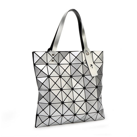 Geometric Metallic Shoulder Bag