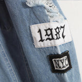Where is my Mind? Patched Denim Jacket-Kook Store-Kook Store
