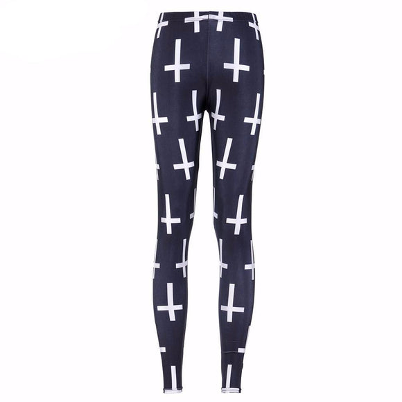 Black Cross Leggings