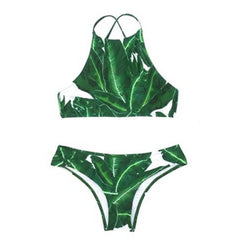 High Neck Leaf Bikini