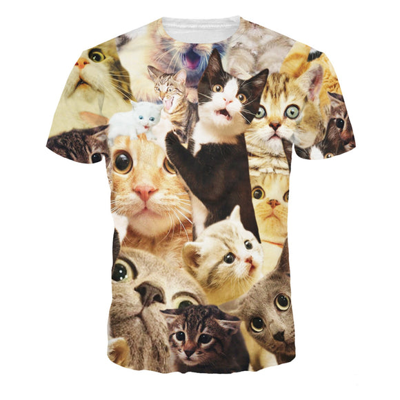 Funny Cats T-Shirt-Kook Store-Kook Store