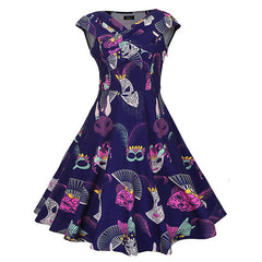 Villain Cartoon Vintage Dress